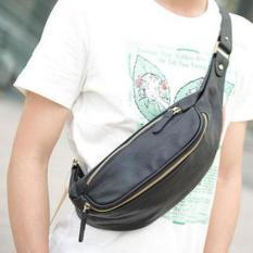 Jual Hola Kulit Baru Chest Bag Fashion Pria Tas Satchel Ponsel Sling Bag Hitam Intl Oem Di Tiongkok