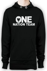Cuci Gudang Hollic Cloth Hoodie One Nation Team Hitam