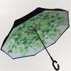 Review Tentang Holywings Payung Lipat Terbalik Gagang Model C Motif Green Leaf