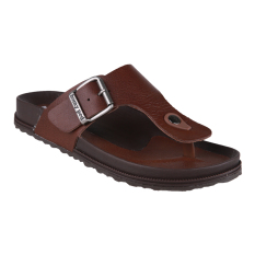 Harga Termurah Homyped Navara 806 Leather Men Sandals Brown