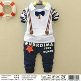 Jual Honeyclothing Baju Stelan Anak Decky Putih Lengkap