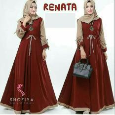 HoneyClothing Baju Muslim Wanita Terbaru // Gamis Muslimah // Gamis Trendy / Dress Renisa