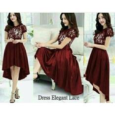 Honeyclothing Dress Wanita Eliva - Merah / Baju Pesta / Dress Casual / Baju Wanita / Pakaian Wanita / Best Seller