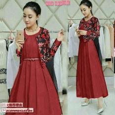 Honeyclothing Dress Wanita Lelina - Merah / Dress Wanita / Dress Casual / Dress Terkini / Best Seller