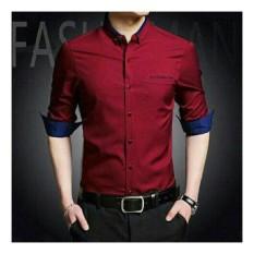 Honeyclothing Kemeja Pria Topmen - Merah / Kemeja Formal Pria / Kemeja Casual Pria / Baju Pria / Atasan Pria / Baju Kerja