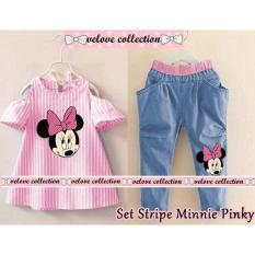 Honeyclothing Setelan Anak Mipin - Pink / Setelan Anak Perempuan / Setelan Casual / Atasan Wanita / Fashion Anak