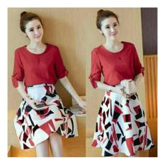 Katalog Honeyclothing Stelan Fashion Wanita Casual Diamond Merah Terbaru