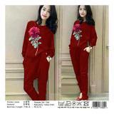 Spesifikasi Honeyclothing Stelan Sweater Wanita Roselina Merah Terbaik