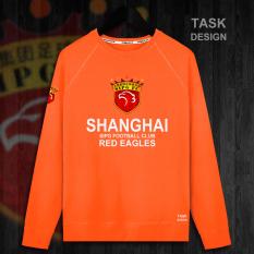 Hong Kong Musim Semi Baju Sepak Bola Sweter Tanpa Kancing Jas Berkerudung Kaos Sweater (Bagian Tipis Leher Bulat Warna Jingga)