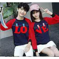 Hoodie Couple / Sweater Baju Pasangan Love Jemur