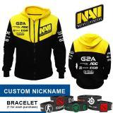 Jual Hoodie Navi Black Yellow Logo Costum Nickname Online Indonesia