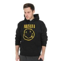 Toko Hoodie Nirvana Full Black Playclotink