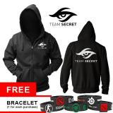 Jual Hoodie Team Secret Black 2016 Branded
