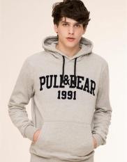 Hoodie/Jacket Pull And Bear Regular Man Grey - JUMAN