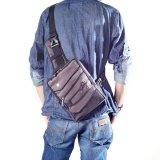 Jual Hoozler Body Pack Sling Bag Tas Selempang Pria Casual Gun Brown Branded Murah
