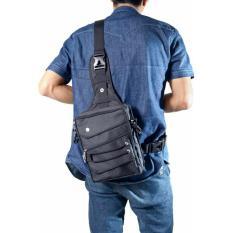 Beli Hoozler Gun Bag Tas Selempang Kecil Unisex Simple Canvas Exclusive Hitam Kredit Jawa Barat