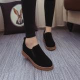 Harga Hot Kasual Wanita Flat Yang Nyaman Moccasin Gommino Loafer Sepatu Round Toe Menyelam Leisure Hitam Intl Baru