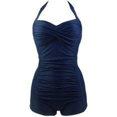 Hot Fashion One Piece Plus Ukuran Swimwear Wanita Suit Ruffles Sayang Beachwear Push Up Swimsuit Monokini-Intl