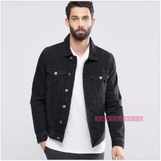 Hot Item Jaket Jeans Denim Pria Black Poptastic Diskon 40