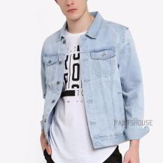 HOT ITEM Jaket Jeans Denim Pria - Light Blue