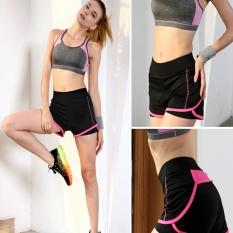 Hot Pink Perempuan Quarter Yoga Sport Yang Sport S Minum Palsu Bang Bang Pendek Doa Makan Celana Pants Bang Pendek Wanita Bang Bang Pendek Karena untuk Sulit Bernapas Bang Bang Pendek Georgia Joging