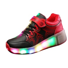 Hot S Children Usb Led Light Heelys Jazzy Shoes Boys Girls Heelys Rollershoes Child Skate Sports Shoes 27-43# Lmcs018 @