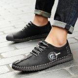 Beli Hot Dijual 2017 Baru Fashion Laki Laki Nyaman Sepatu Tali Kokoh Asli Kulit Sepatu Pria Hitam Intl Kredit Tiongkok
