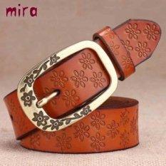HOT SALE Autumn decoration all-match women cowhide belt genuine leather strap jeans obi belt ceintures pour femmes - intl