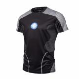 Harga Hot Sale Avengers Ironman 3D Kaus Pria Bermotif Kompresi Pendek Lengan Kebugaran Binaraga T Shirt Gym Tee Internasional Ylm