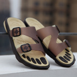 Diskon Hot Sale Flat Sandals Massage Shoes New Arrival Flip Flops Bathroom Slipper Beach Shower Slipper Non Slip Bathroom Household Home Slippers For Men Brown Intl Oem Tiongkok