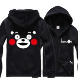 Panas Dijual Korea Musim Gugur Musim Dingin Lucu Pria Girls Hoodies Sweatshirts Jepang Maskot Kumamon Bear Fashion Hot Pria Pecinta Gift Zipper Hoodie Shirt Zipper Beludru Hoodies Intl Di Tiongkok