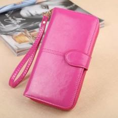 Jual Hot Sale Zipper Long Wallet Brand Coin Purse Leather Women Wallet Purse Wallet Female Card Holder Long Lady Clutch Intl Termurah