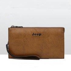Hot Penjualan 2017 Jeep Populer Tas Tangan Tali Desain Retro Double-Deckwallet untuk Pria Keren