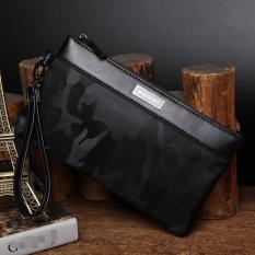 Jual Hot Sales Men S Waterproof Oxford Cloth Envelope Handbag Concise Fashion Camouflage Leisure Long Wallet Clutch Portable Business Phone Bag(Black) Intl Branded Original