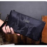 Dapatkan Segera Hot Sales Men S Waterproof Oxford Cloth Envelope Handbag Concise Fashion Camouflage Leisure Long Wallet Clutch Portable Business Phone Bag(Blue Small ) Intl