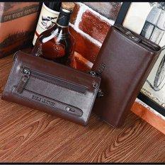 Hot Penjualan Tali Casing Besar Kemampuan Tali Panjang Dompet Telepon Bisnis  Bag Leisure Cowhide Leather Clutch ac3b9028ce