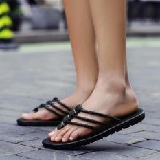 Hot Jual Flip Flops Pria Kulit Asli Sandal Fashion Pantai Musim Panas Sandal untuk MenHigh Kualitas-Intl