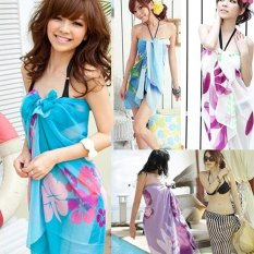 Hot Jual Summer Beach Women Lady Wrap Swimwear Bikini Cover-Up Sarung Scarf Pareo-Intl