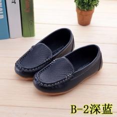 Spesifikasi Hot Selling Boys And Girls Casual Sepatu Kacang Sepatu Lucu Solid Putri Lembut Bersol Sepatu Dark Biru Intl Lengkap Dengan Harga