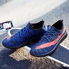 Beli Hot South Korea S New Sports Shoes Couple Shoes Running Shoes(Blue) Intl Kredit Tiongkok