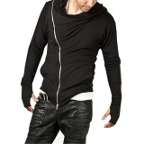 Hot Stylish Creed Hoodie Pria Cosplay Assassins Cool Slim Jaket Kostum Hitam Intl Original