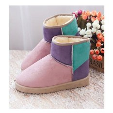 HOT Wanita Permen Warna Winter Hangat Salju Setengah Boots Sepatu 3 Warna-Intl