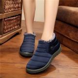 Beli Perempuan Hot Musim Dingin Hangat Kain Fur Lined Slip On Ankle Snow Boots Sneakers Sepatu Biru Not Specified Murah