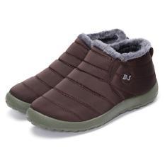 Diskon Perempuan Hot Musim Dingin Hangat Kain Fur Lined Slip On Ankle Snow Boots Sneakers Sepatu Kopi Intl Akhir Tahun