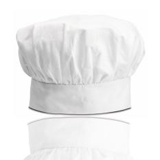 Hotel dapur kerja topi topi jamur topi koki topi (Putih topi kain)