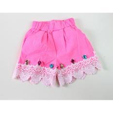 Review Hotpants Anak Renda Mote Pink Terbaru