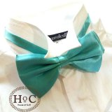 Review Toko Houseofcuff Satin Turquoise Bow Tie