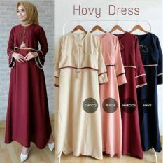 Hovy Dress/Baju Lebaran Wanita/Fashion Muslim Cantik/Hijab Remaja