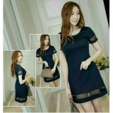 Spesifikasi Hoziro Atasan Dress Wanita Shirley Navy Yg Baik