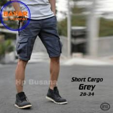 Promo Hp Busana Celana Cargo Pendek Abu